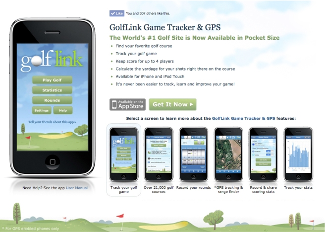 GolfLink Mobile App