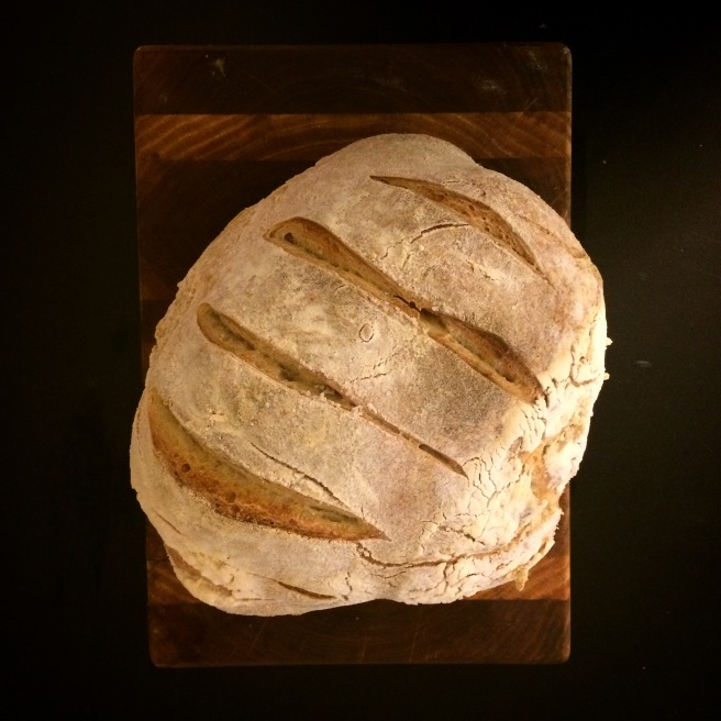Sourdough bread from starter.