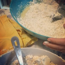 start adding flour, 1/2 cup at a time.